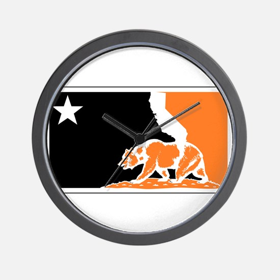 major league bay area orange plain Wall Clock