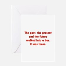 It was tense. Greeting Card