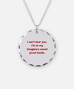 Imaginary Sound Proof Booth Necklace