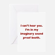 Imaginary Sound Proof Booth Greeting Card