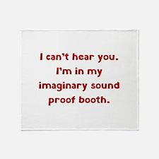 Imaginary Sound Proof Booth Stadium Blanket