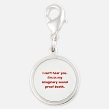 Imaginary Sound Proof Booth Silver Round Charm