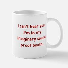Imaginary Sound Proof Booth Mug