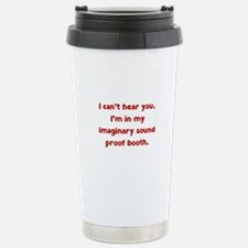 Imaginary Sound Proof Booth Travel Mug