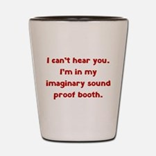 Imaginary Sound Proof Booth Shot Glass