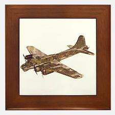 Vintage B-17 Framed Tile