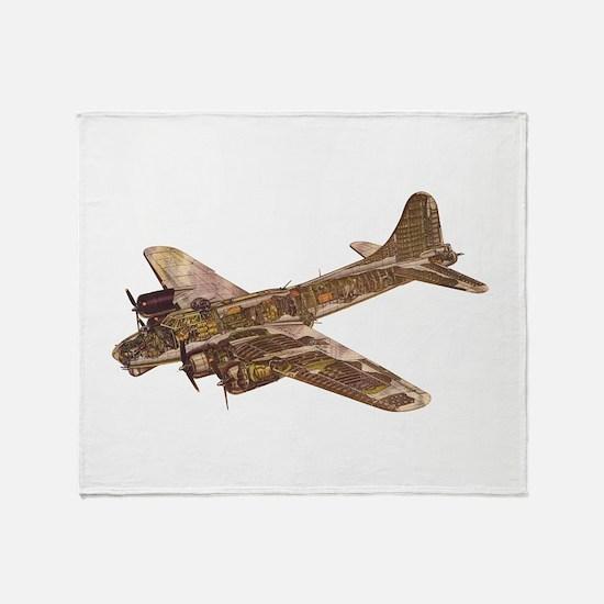 Vintage B-17 Throw Blanket