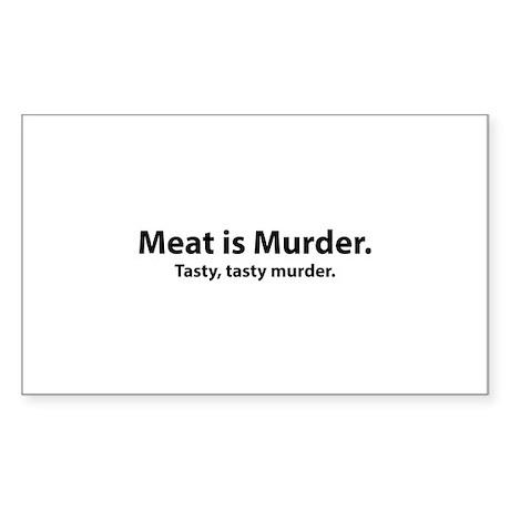 Meat is Murder Sticker (Rectangle)