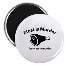 "Meat is Murder 2.25"" Magnet (100 pack)"