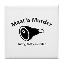 Meat is Murder Tile Coaster