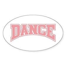 Dance Oval Decal
