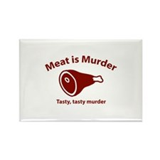 Meat is Murder Rectangle Magnet (10 pack)