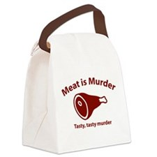 Meat is Murder Canvas Lunch Bag
