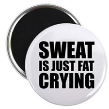 """Sweat Is Just Fat Crying 2.25"""" Magnet (10 pack)"""