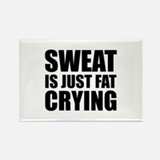 Sweat Is Just Fat Crying Rectangle Magnet (10 pack
