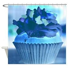 Negative Cupcake Cat Forsley Designs Shower Curtai