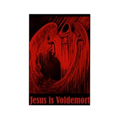 Jesus is Voldemort Rectangle Magnet