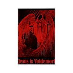 Jesus is Voldemort Rectangle Magnet