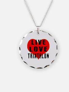 Live Love Triathlon Necklace