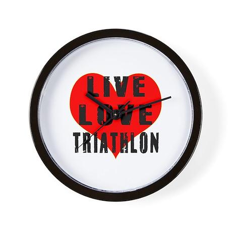 Live Love Triathlon Wall Clock