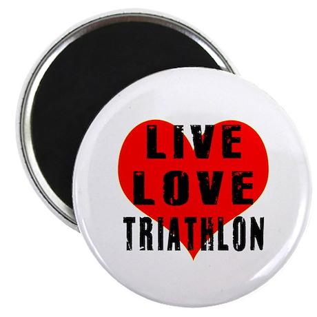 Live Love Triathlon Magnet