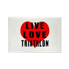 Live Love Triathlon Rectangle Magnet