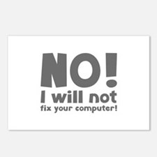 NO! I will not fix your computer! Postcards (Packa