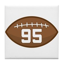 Football Player Number 95 Tile Coaster