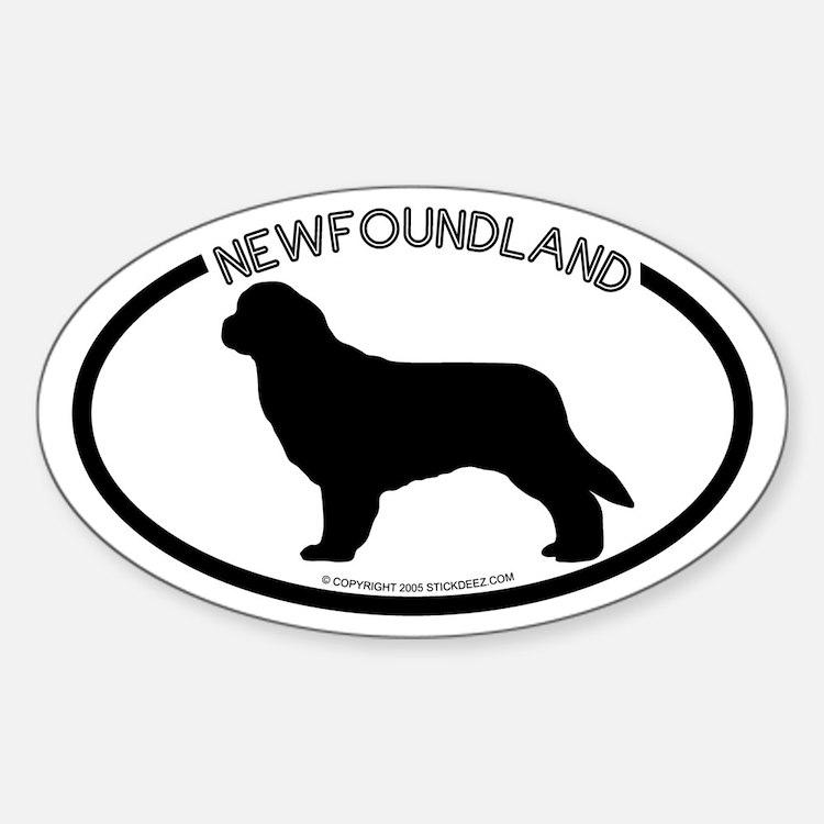 """Newfoundland"" White Oval Decal"