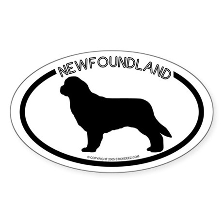 """Newfoundland"" White Oval Sticker"