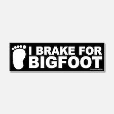 I Brake For Bigfoot Black (magnet)