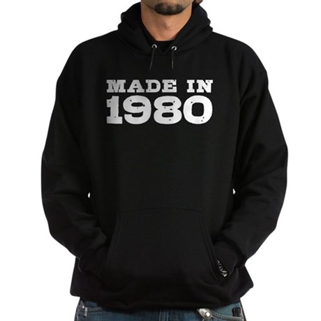 Made In 1980 Hoodie (dark)