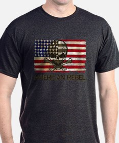 Flag-Painted-American Rebel-3 T-Shirt
