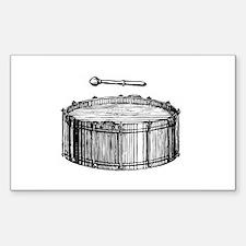 Woodcut Bass Drum Rectangle Decal