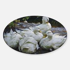 Flock of White Ducks Decal
