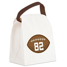 Football Player Number 82 Canvas Lunch Bag