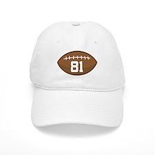 Football Player Number 81 Baseball Cap