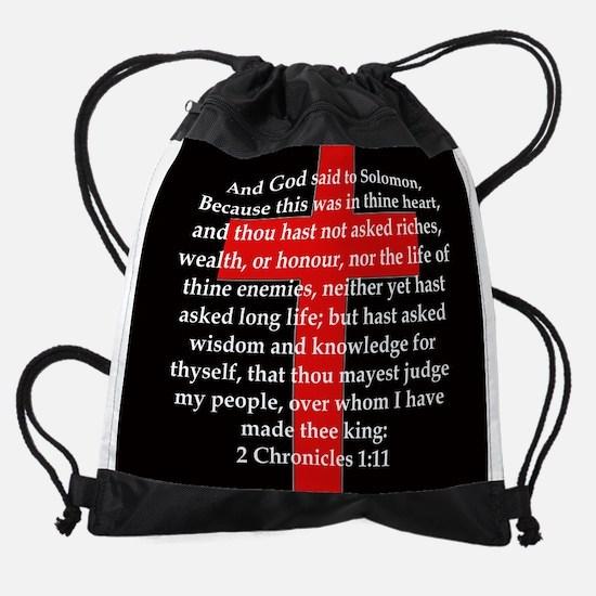 2 Chronicles 1:11 Drawstring Bag