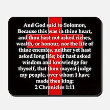 2 Chronicles 1:11 Mousepad