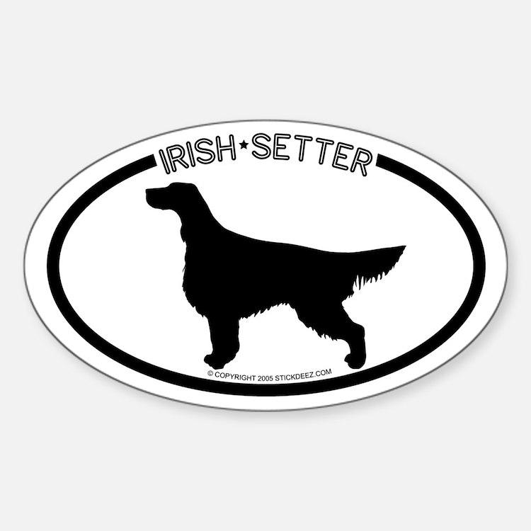 """Irish Setter"" White Oval Decal"