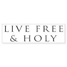 Live Free & Holy (white)