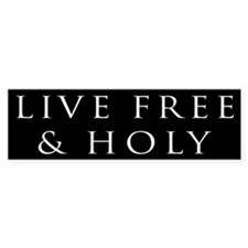 Live Free & Holy (black)