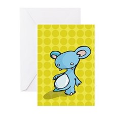 Blue creature Greeting Cards (Pk of 10)