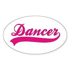 I Love Dance Oval Decal