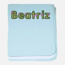 Beatriz Spring Green baby blanket
