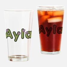 Ayla Spring Green Drinking Glass