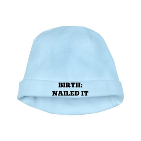 Birth: Nailed it baby hat