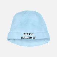 Birth: Nailed it baby hat