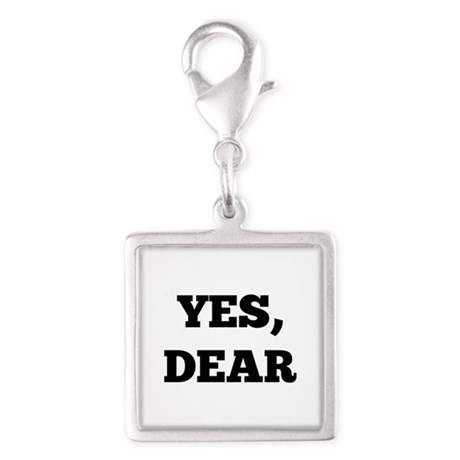 Yes, Dear Silver Square Charm