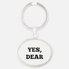 Yes, Dear Oval Keychain